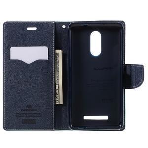 Wallet PU kožené puzdra na Xiaomi Redmi Note 3 - azurové - 6