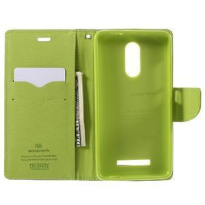 Wallet PU kožené puzdra na Xiaomi Redmi Note 3 - tmavomodré - 6