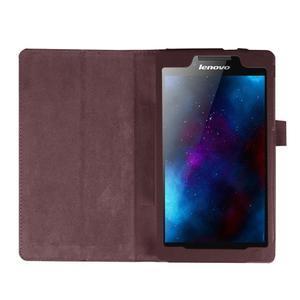 Dvoupolohové pouzdro na tablet Lenovo Tab 2 A7-20 - tmavěhnědé - 6