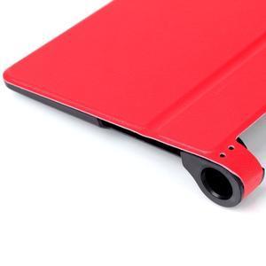 Polohovatelnotelné PU kožené pouzdro na Lenovo Yoga Tab 3 8.0 - červené - 6
