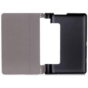 Polohovatelné PU kožené puzdro pre Lenovo Yoga Tab 3 8.0 - tmavomodré - 6