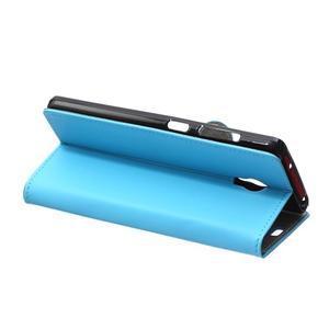 Peňaženkové puzdro pre Lenovo Vibe P1 - modré - 6