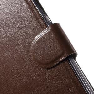 Horse peňaženkové puzdro pre Lenovo Vibe P1 - hnedé - 6