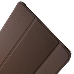 Trifold polohovatelné puzdro na Samsung Galaxy Tab A 9.7 - hnedé - 6