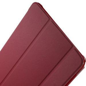 Trifold polohovatelné puzdro na Samsung Galaxy Tab A 9.7 - červené - 6