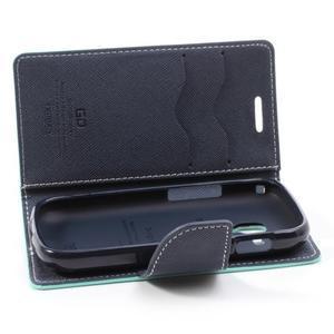 Diary puzdro na mobil Samsung Galaxy S Duos / Trend Plus - azurové - 6