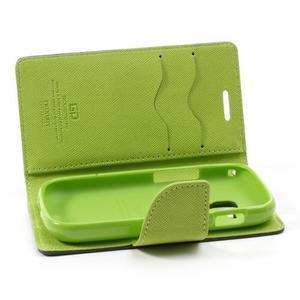 Diary puzdro na mobil Samsung Galaxy S Duos / Trend Plus - tmavomodré - 6