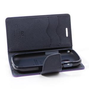 Diary puzdro na mobil Samsung Galaxy S Duos / Trend Plus - fialové - 6