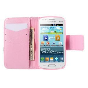 Peňaženkové puzdro pre Samsung Galaxy S Duos / Trend Plus - vtáčik v klietke - 6