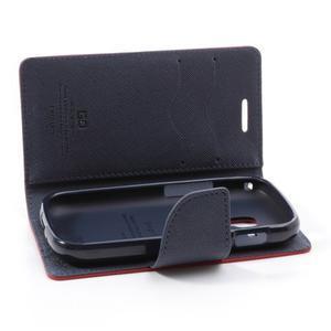 Diary puzdro pre mobil Samsung Galaxy S Duos / Trend Plus -  červené - 6