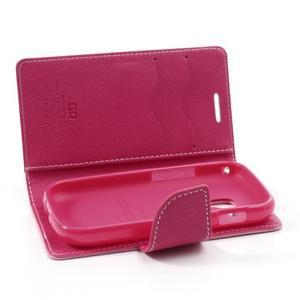 Diary puzdro na mobil Samsung Galaxy S Duos / Trend Plus - růžové - 6