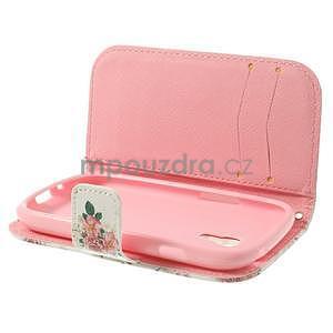 Peňaženkové puzdro na Samsung Galaxy S3 mini - kvety - 6