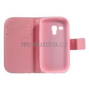Peňaženkové puzdro pre Samsung Galaxy S3 mini - srdca - 6