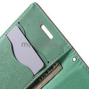 Diary peňaženkové puzdro na mobil Samsung Galaxy S3 mini - ružové/azúrové - 6
