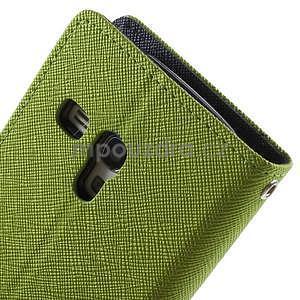 Diary peňaženkové puzdro na mobil Samsung Galaxy S3 mini - zelené/tmavomodré - 6