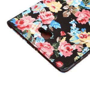 Květinové puzdro na tablet Samsung Galaxy Tab A 10.1 (2016) - čierné - 6