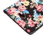 Květinové puzdro na tablet Samsung Galaxy Tab A 10.1 (2016) - čierné - 6/7