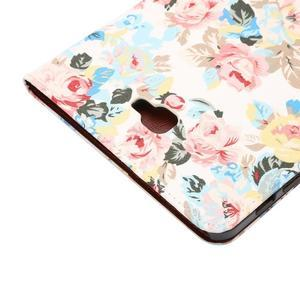 Květinové puzdro na tablet Samsung Galaxy Tab A 10.1 (2016) - bielé - 6