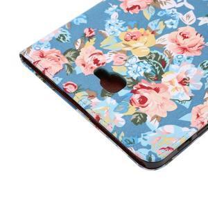Kvetinové puzdro pre tablet Samsung Galaxy Tab A 10.1 (2016) - modré - 6