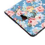 Kvetinové puzdro pre tablet Samsung Galaxy Tab A 10.1 (2016) - modré - 6/7
