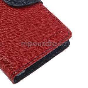 Fancy peňaženkové puzdro na Sony Xperia Z1 Compact - červené - 6