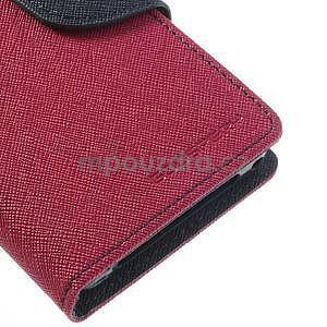 Fancy peňaženkové puzdro pre Sony Xperia Z1 Compact - rose - 6