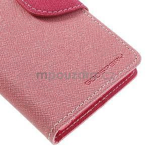 Fancy peňaženkové puzdro na Sony Xperia Z1 Compact - ružové - 6