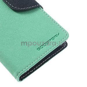 Fancy peňaženkové puzdro pre Sony Xperia Z1 Compact - azúrové - 6