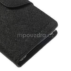 Fancy peňaženkové puzdro na Sony Xperia Z1 Compact - čierne - 6