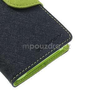 Fancy peňaženkové puzdro pre Sony Xperia Z1 Compact - tmavomodré - 6