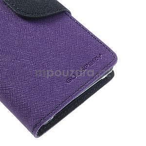 Fancy peňaženkové puzdro na Sony Xperia Z1 Compact - fialové - 6