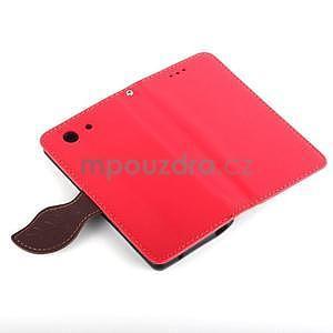 Leaf peněženkové pouzdro na Sony Xperia Z3 Compact - červené - 6