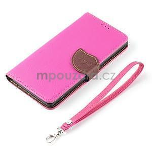 Leaf peněženkové pouzdro na Sony Xperia Z3 Compact - rose - 6