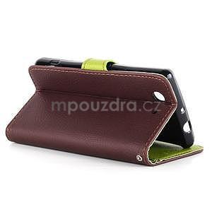 Leaf peněženkové pouzdro na Sony Xperia Z3 Compact - hnědé - 6