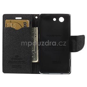 Diary Peňaženkové puzdro pre mobil Sony Xperia Z3 Compact - hnedé - 6