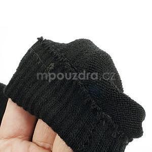 Skeleton rukavice na dotykové telefony - čierné/ružové - 6