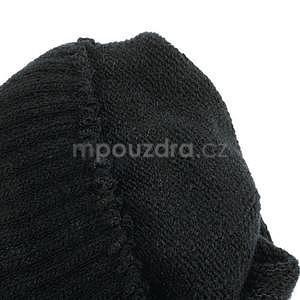 Skeleton rukavice na dotykové telefony - čierné/fialové - 6