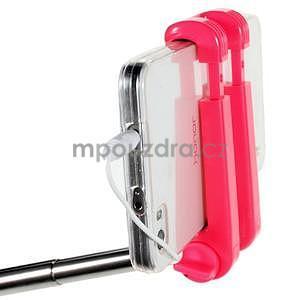 Selfie tyč s automatickým spínačem na rukojeti - rose - 6