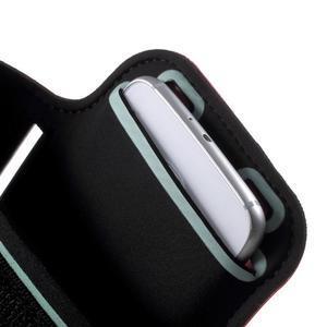 Fittsport pouzdro na ruku pro mobil do rozměrů 143.4 x 70,5 x 6,8 mm - červené - 6