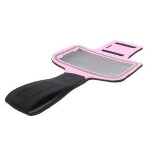 Fittsport pouzdro na ruku pro mobil do rozměrů 143.4 x 70,5 x 6,8 mm - růžové - 6