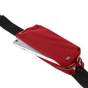 Športové kapsička pres pas na mobily do rozmerov 149 x 75 mm - červené - 6