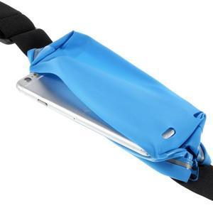 Sportovní kapsička přes pas na mobily do rozměrů 149 x 75 mm - modré - 6