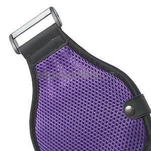 Absorb športové puzdro na telefón do veľkosti 125 x 60 mm -  fialové - 6