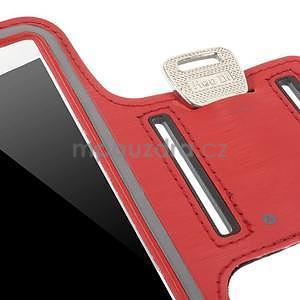 Bežecké puzdro na ruku pre mobil do veľkosti 152 x 80 mm - červené - 6