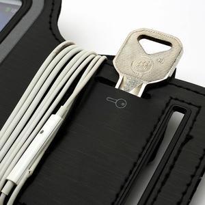 Čierne puzdro na ruku do veľkosti mobilu 125 x 61 mm - 6