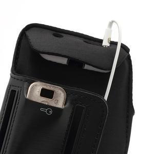 Športové puzdro na ruku až do veľkosti mobilu 140 x 70 mm - čierne - 6