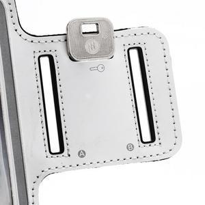 Športové puzdro na ruku až do veľkosti mobilu 140 x 70 mm - biele - 6