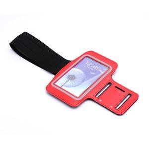 Športové puzdro na ruku až do veľkosti mobilu 140 x 70 mm - červené - 6