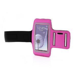 Športové puzdro na ruku až do veľkosti mobilu 140 x 70 mm - rose - 6