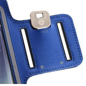 Športové puzdro na ruku až do veľkosti mobilu 140 x 70 mm - modré - 6